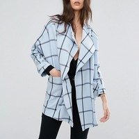 River Island Check Tailored Soft Jacket at asos.com
