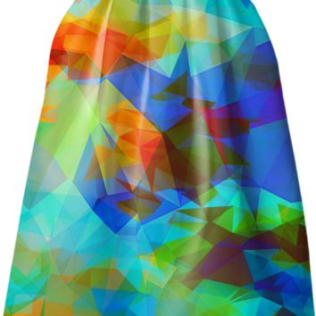 polygon design skirt created by haroulita | Print All Over Me