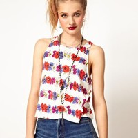 Minkpink Flower Child Vest Top in Floral Stripe at asos.com