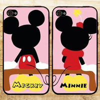 Mickey Minnie Couple- for iPhone 4/4s/5/5c/5s, Samsung S3/S4 case cover, gift under 25