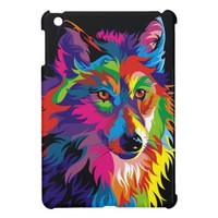 Watercolor Wolf Painting iPad Mini Case