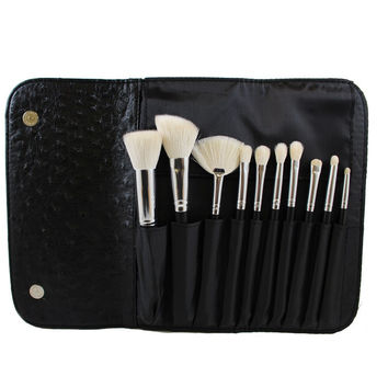 SET 692 - 10 PIECE DELUXE SET W/ OSTRICH SKIN SNAP CASE **NEW**