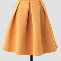 Margaux Pleated Skirt In Yellow