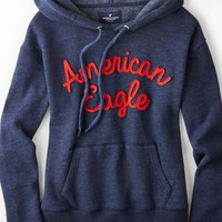 AEO Women's Signature Applique Hoodie