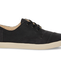 TOMS Black Synthetic Leather Women's Paseos Black