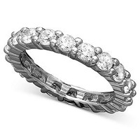 B. Brilliant Sterling Silver Ring, Cubic Zirconia Prong Set Eternity Band Ring (4-1/3 ct. t.w.)