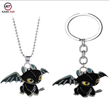 Anime Game Accessories Ornaments Train Your Dragon 2 Toothless Night Fury Necklace Alloy Pendant Jewelry For Cosplay Gifts