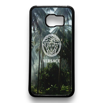 Versace logo palm tree Samsung Galaxy S6 Case