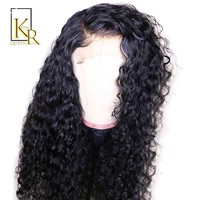 Curly Full Lace Human Hair Wigs Pre Plucked Brazilian Remy Full Lace Wigs For Women Bleached Knots With Baby Hair Make 360 Bun