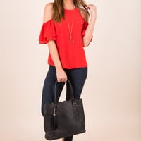 The Perfect Love Story Top, Scarlet
