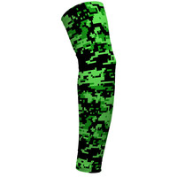 Digital Camo Lime, Green and Black Arm Sleeves