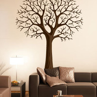 Vinyl Wall Decal  Winter Tree Design by GorgeousWallArt on Etsy