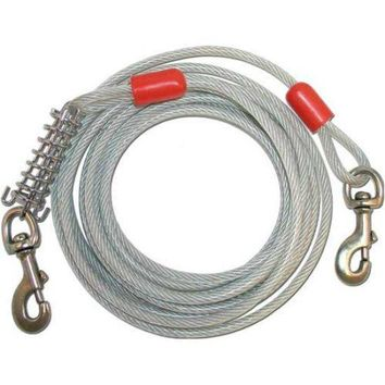 Ruffin' It 29615 Super Tie-Out Cable for Dogs Up to 150 Lbs, 15'