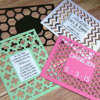 Cutout Kirigami Invitation // Handmade Custom Papercut Invitation Cards for Wedding, Birthday, Shower, Formal Party, Quinceañera, and More!