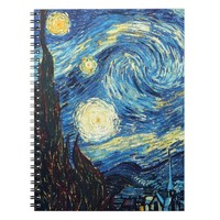 Starry Night Art Spiral Notebook