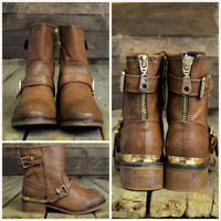 Valley Trooper Brown Cut Off Boots