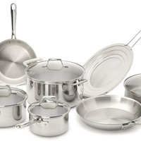 Tri-Ply Stainless Steel Cookware Set Pot Sets Pan Pots Pans Cook Kitchen Utensil