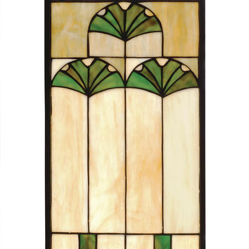 Hanging Stained Glass Window - Ginkgo