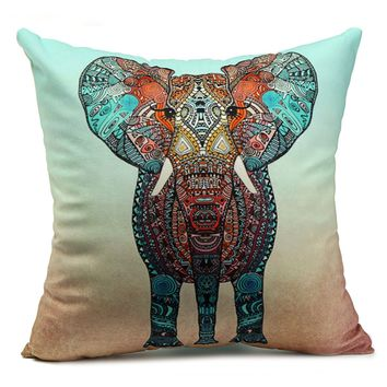 Velvet Elephant Throw Pillow Case