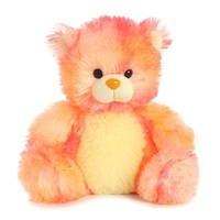 Little Peachdrop the Bright Orange Teddy Bear by Aurora