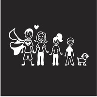 Happy Family Car Decal