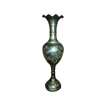 Pre-owned Brass Etched Vase