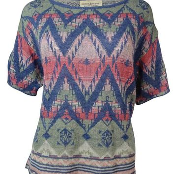 Denim & Supply Women's Chevron Intarsia Dolman Sweater