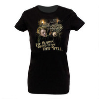 """Professor McGonagall's """"I've Always Wanted to Use That Spell"""" Women's Fitted T-Shirt 