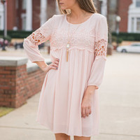 Flashing Lights Dress, Rose Quartz
