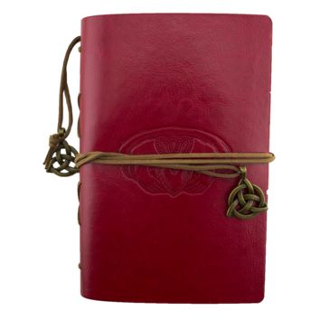 Claddagh Red Leather Journal Planner Organizer