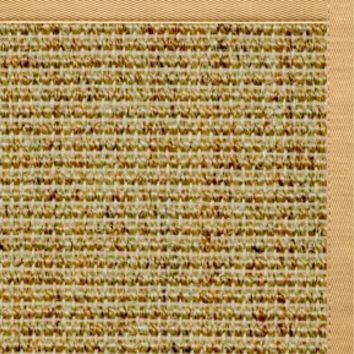 Sustainable Lifestyles Spice Sisal Rug with Honeycomb Cotton Border