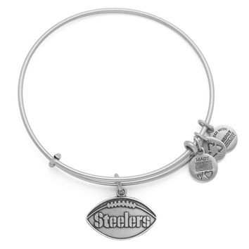Pittsburgh Steelers Football Charm Bangle