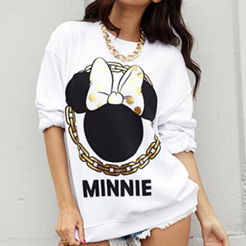 Minnie Mouse Chain Sweatshirt