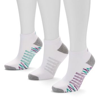 New Balance 3-pk. C-Core Low-Cut Socks - Women (White Plum)