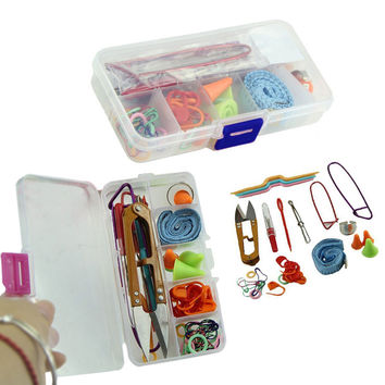 Knitting Tools Supplies With Box Kit Case Crochet Needle Hook Accessories Gift