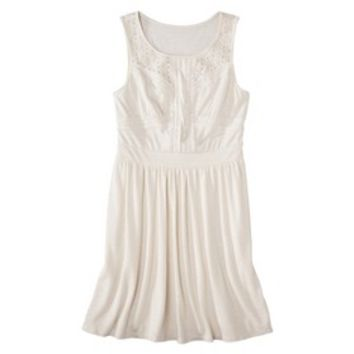 Mossimo Supply Co. Junior's Eyelet Jersey Dress