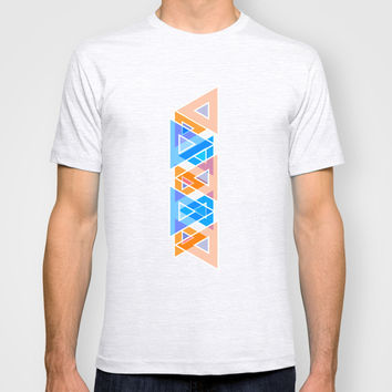 Triangles Mosaic Art T-shirt by Cinema4design