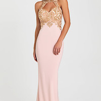 Long Keyhole Open Back Prom Dress by Madison James