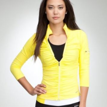 BB Ruched Funnel Jacket -Bebe Sport Bebesport Buttercup-l