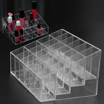 24 Grid Makeup Organizer Storage Box