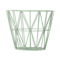 ferm living Wire basket M mint | Ting