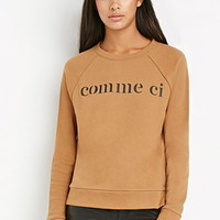 Comme Ci Back-Zipper Sweatshirt