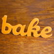 bake wood sign handmade from recycled wood by WilliamDohman