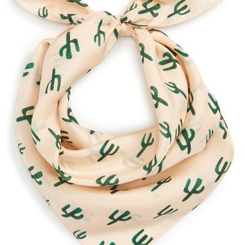 Sole Society Cactus Silk Scarf | Nordstrom