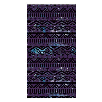 Hand Drawn Black Aztec Towel