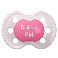 Daddy's Girl pink baby girl Pacifier BooginHead Pacifier