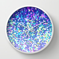 Glitter Graphic G209 Wall Clock by MedusArt | Society6