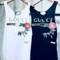 Gucci embroidery flower top blouse shirt