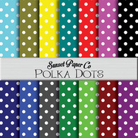 Digital Paper Pack - Polka Dots