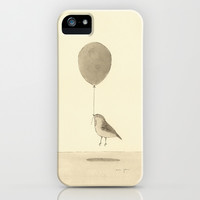 bird with a balloon iPhone & iPod Case by Marc Johns